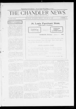 Primary view of object titled 'The Chandler News. (Chandler, Okla.), Vol. 8, No. 19, Ed. 1 Friday, January 27, 1899'.