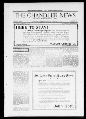 Primary view of object titled 'The Chandler News. (Chandler, Okla.), Vol. 8, No. 20, Ed. 1 Friday, February 3, 1899'.