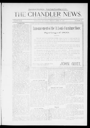 Primary view of object titled 'The Chandler News. (Chandler, Okla.), Vol. 8, No. 32, Ed. 1 Friday, April 28, 1899'.