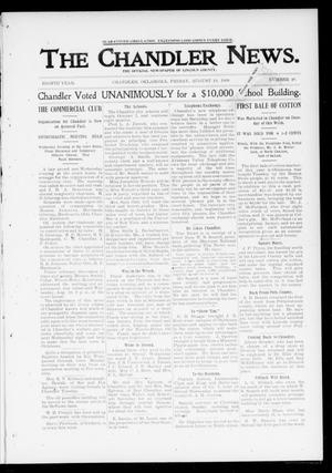 Primary view of object titled 'The Chandler News. (Chandler, Okla.), Vol. 8, No. 48, Ed. 1 Friday, August 18, 1899'.