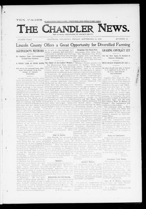 Primary view of object titled 'The Chandler News. (Chandler, Okla.), Vol. 8, No. 52, Ed. 1 Friday, September 15, 1899'.