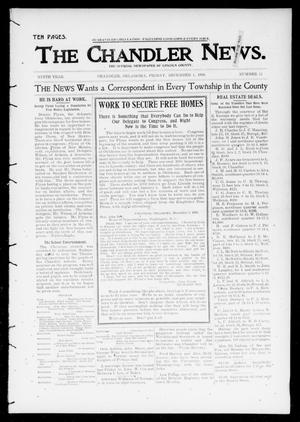 Primary view of object titled 'The Chandler News. (Chandler, Okla.), Vol. 9, No. 11, Ed. 1 Friday, December 1, 1899'.
