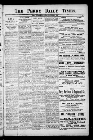 Primary view of object titled 'The Perry Daily Times. (Perry, Okla.), Vol. 1, No. 53, Ed. 1 Saturday, November 18, 1893'.
