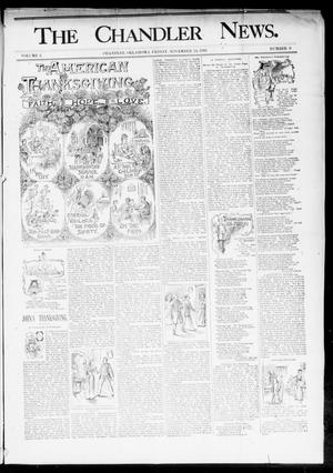 Primary view of object titled 'The Chandler News. (Chandler, Okla.), Vol. 3, No. 9, Ed. 1 Friday, November 24, 1893'.