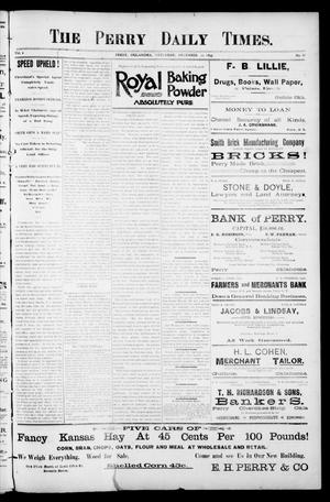 Primary view of object titled 'The Perry Daily Times. (Perry, Okla.), Vol. 1, No. 88, Ed. 1 Saturday, December 30, 1893'.
