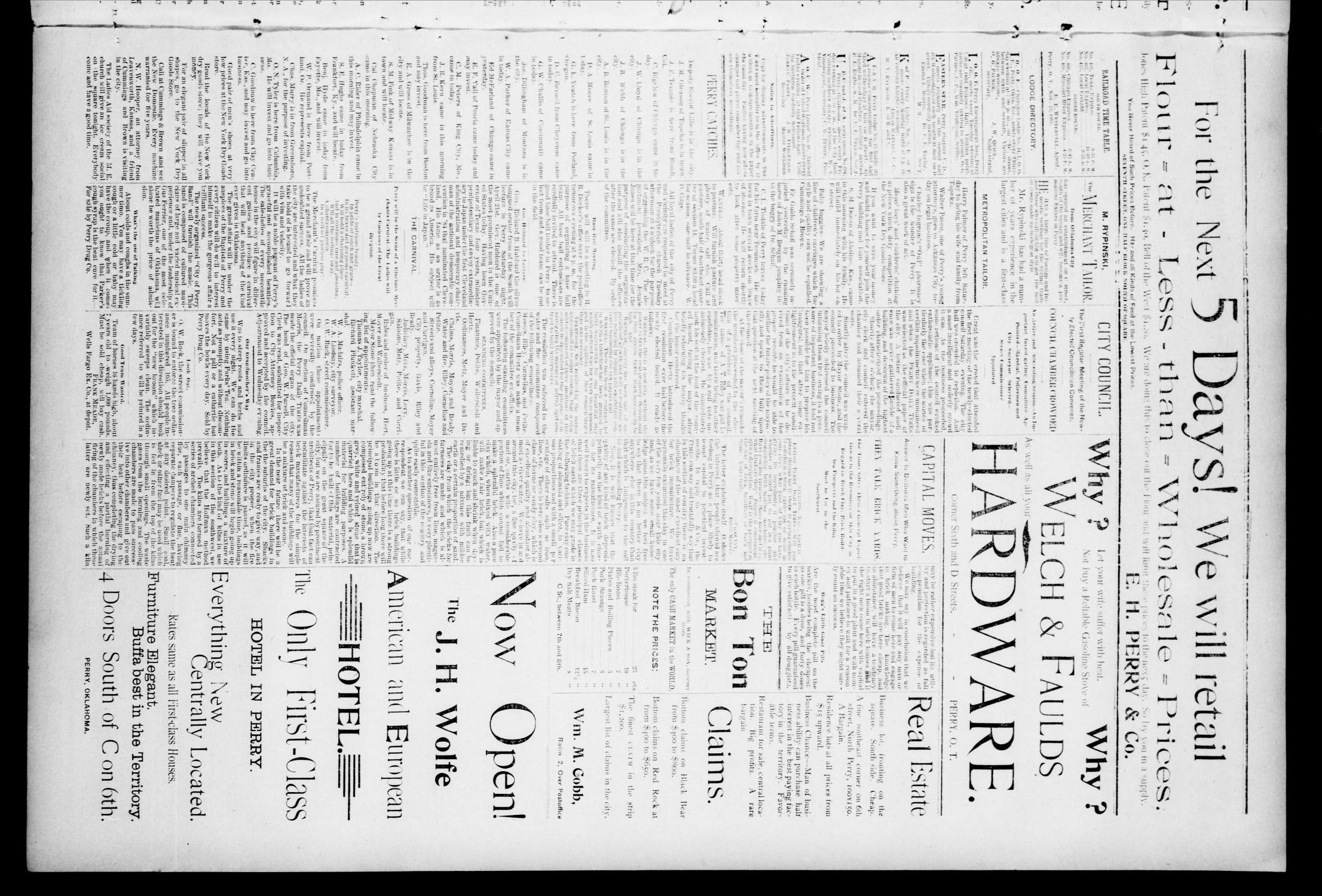 The Perry Daily Times. (Perry, Okla.), Vol. 1, No. 177, Ed. 1 Monday, April 16, 1894                                                                                                      [Sequence #]: 3 of 4