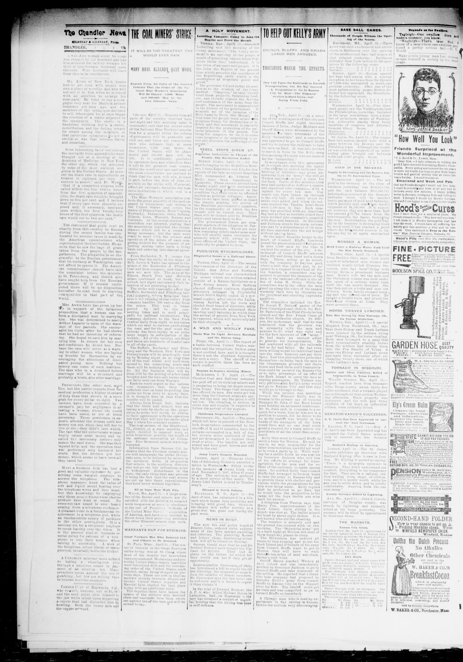 The Chandler News. (Chandler, Okla.), Vol. 3, No. 31, Ed. 1 Friday, April 27, 1894                                                                                                      [Sequence #]: 2 of 8