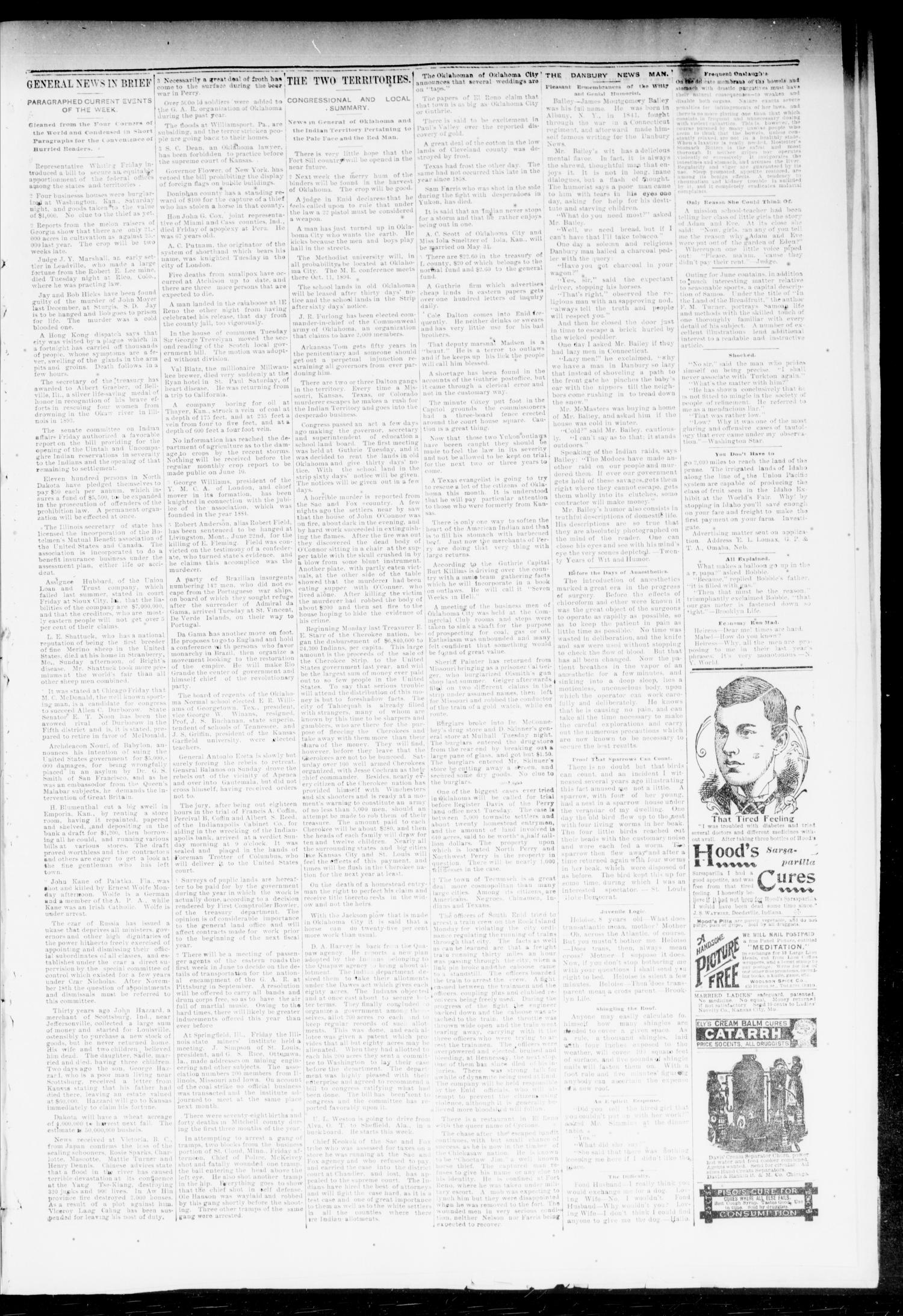 The Chandler News. (Chandler, Okla.), Vol. 3, No. 37, Ed. 1 Friday, June 8, 1894                                                                                                      [Sequence #]: 3 of 8