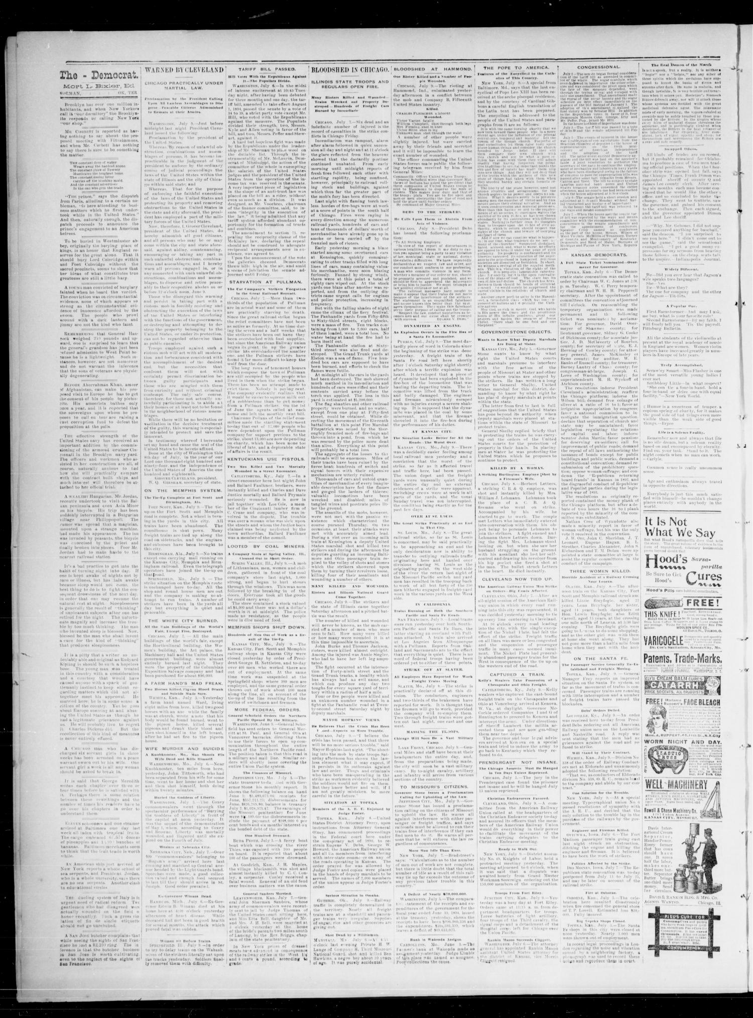 The State Democrat. (Norman, Okla.), Vol. 5, No. 124, Ed. 1 Saturday, July 14, 1894                                                                                                      [Sequence #]: 2 of 4
