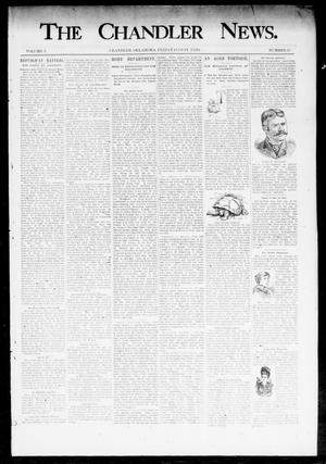 Primary view of object titled 'The Chandler News. (Chandler, Okla.), Vol. 3, No. 35, Ed. 1 Friday, August 3, 1894'.