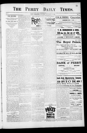 Primary view of object titled 'The Perry Daily Times. (Perry, Okla.), Vol. 2, No. 12, Ed. 1 Saturday, September 29, 1894'.