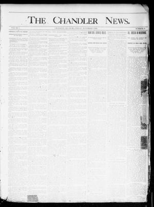 Primary view of object titled 'The Chandler News. (Chandler, Okla.), Vol. 3, No. 49, Ed. 1 Friday, November 9, 1894'.