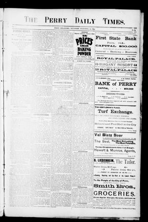 Primary view of object titled 'The Perry Daily Times. (Perry, Okla.), Vol. 2, No. 84, Ed. 1 Saturday, December 29, 1894'.