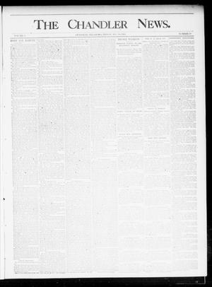 Primary view of object titled 'The Chandler News. (Chandler, Okla.), Vol. 4, No. 49, Ed. 1 Friday, August 30, 1895'.