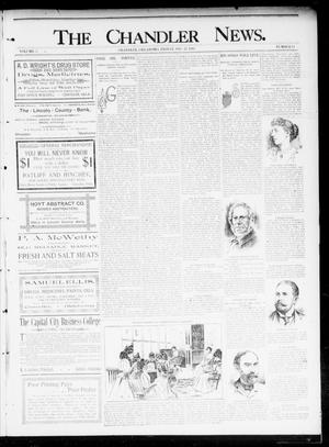 Primary view of object titled 'The Chandler News. (Chandler, Okla.), Vol. 5, No. 14, Ed. 1 Friday, December 27, 1895'.