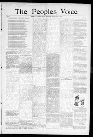 Primary view of object titled 'The Peoples Voice (Norman, Okla.), Vol. 5, No. 42, Ed. 1 Friday, May 14, 1897'.