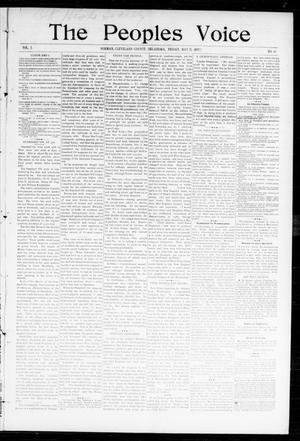 Primary view of object titled 'The Peoples Voice (Norman, Okla.), Vol. 5, No. 43, Ed. 1 Friday, May 21, 1897'.