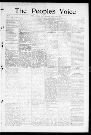 Primary view of object titled 'The Peoples Voice (Norman, Okla.), Vol. 5, No. 48, Ed. 1 Friday, June 25, 1897'.