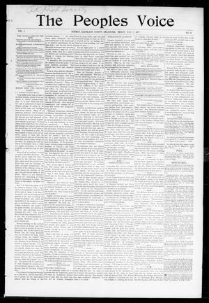 Primary view of object titled 'The Peoples Voice (Norman, Okla.), Vol. 5, No. 49, Ed. 1 Friday, July 2, 1897'.