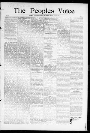Primary view of object titled 'The Peoples Voice (Norman, Okla.), Vol. 5, No. 50, Ed. 1 Friday, July 9, 1897'.