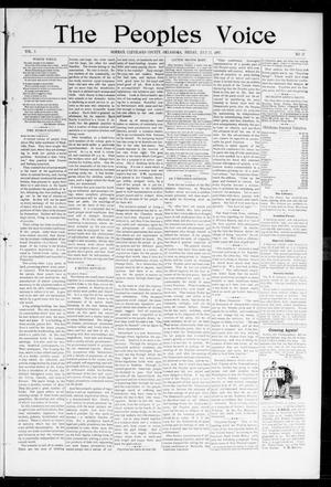 Primary view of object titled 'The Peoples Voice (Norman, Okla.), Vol. 5, No. 52, Ed. 1 Friday, July 23, 1897'.