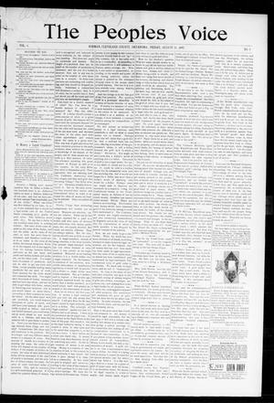 Primary view of object titled 'The Peoples Voice (Norman, Okla.), Vol. 6, No. 4, Ed. 1 Friday, August 20, 1897'.
