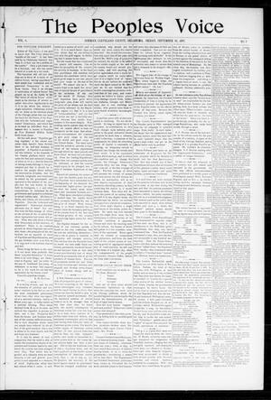 Primary view of object titled 'The Peoples Voice (Norman, Okla.), Vol. 6, No. 7, Ed. 1 Friday, September 10, 1897'.