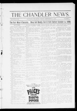 Primary view of object titled 'The Chandler News. (Chandler, Okla.), Vol. 7, No. 1, Ed. 1 Friday, September 24, 1897'.