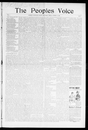 Primary view of object titled 'The Peoples Voice (Norman, Okla.), Vol. 6, No. 14, Ed. 1 Friday, October 29, 1897'.