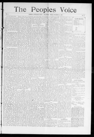 Primary view of object titled 'The Peoples Voice (Norman, Okla.), Vol. 6, No. 18, Ed. 1 Friday, November 26, 1897'.