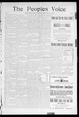 The Peoples Voice (Norman, Okla.), Vol. 6, No. 25, Ed. 1 Friday, January 14, 1898