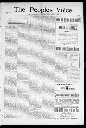 The Peoples Voice (Norman, Okla.), Vol. 6, No. 26, Ed. 1 Friday, January 21, 1898