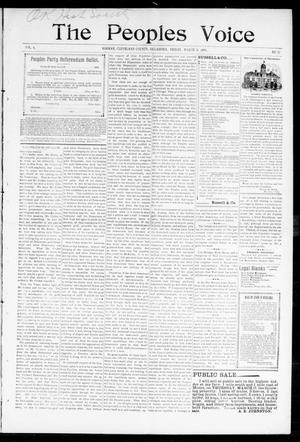 The Peoples Voice (Norman, Okla.), Vol. 6, No. 33, Ed. 1 Friday, March 11, 1898