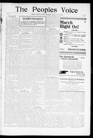 The Peoples Voice (Norman, Okla.), Vol. 6, No. 51, Ed. 1 Friday, July 15, 1898