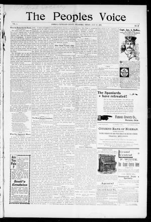 The Peoples Voice (Norman, Okla.), Vol. 6, No. 52, Ed. 1 Friday, July 22, 1898