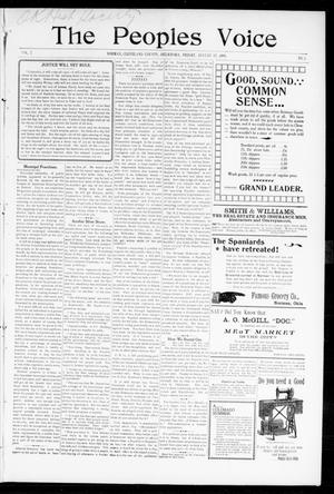 Primary view of The Peoples Voice (Norman, Okla.), Vol. 7, No. 3, Ed. 1 Friday, August 12, 1898