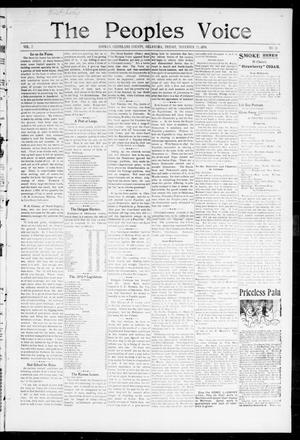 Primary view of object titled 'The Peoples Voice (Norman, Okla.), Vol. 7, No. 18, Ed. 1 Friday, November 25, 1898'.