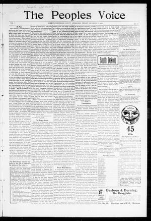 Primary view of object titled 'The Peoples Voice (Norman, Okla.), Vol. 7, No. 23, Ed. 1 Friday, December 30, 1898'.
