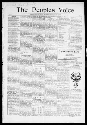 The Peoples Voice (Norman, Okla.), Vol. 7, No. 24, Ed. 1 Friday, January 6, 1899