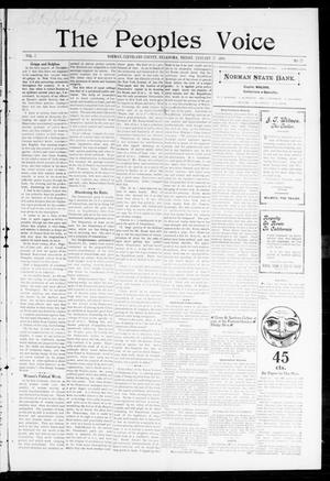Primary view of object titled 'The Peoples Voice (Norman, Okla.), Vol. 7, No. 27, Ed. 1 Friday, January 27, 1899'.