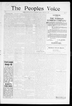 The Peoples Voice (Norman, Okla.), Vol. 7, No. 29, Ed. 1 Friday, February 10, 1899