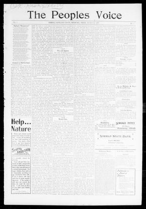 Primary view of object titled 'The Peoples Voice (Norman, Okla.), Vol. 7, No. 32, Ed. 1 Friday, March 3, 1899'.