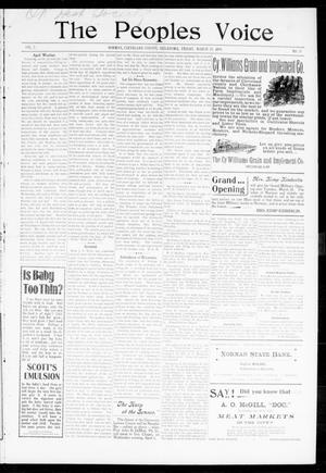 The Peoples Voice (Norman, Okla.), Vol. 7, No. 35, Ed. 1 Friday, March 24, 1899