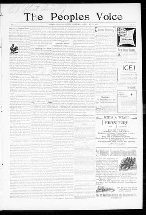 Primary view of object titled 'The Peoples Voice (Norman, Okla.), Vol. 7, No. 43, Ed. 1 Friday, May 19, 1899'.