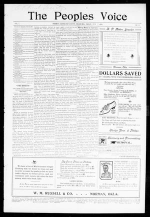 The Peoples Voice (Norman, Okla.), Vol. 7, No. 50, Ed. 1 Friday, July 7, 1899