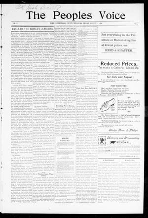 Primary view of The Peoples Voice (Norman, Okla.), Vol. 8, No. 4, Ed. 1 Friday, August 18, 1899