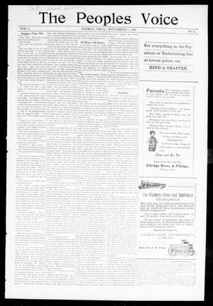 The Peoples Voice (Norman, Okla.), Vol. 8, No. 6, Ed. 1 Friday, September 1, 1899