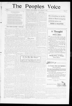 The Peoples Voice (Norman, Okla.), Vol. 8, No. 7, Ed. 1 Friday, September 8, 1899