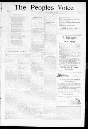 The Peoples Voice (Norman, Okla.), Vol. 8, No. 8, Ed. 1 Friday, September 15, 1899