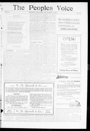 The Peoples Voice (Norman, Okla.), Vol. 8, No. 10, Ed. 1 Friday, September 29, 1899